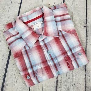 LEVI'S   plaid short sleeve button up shirt